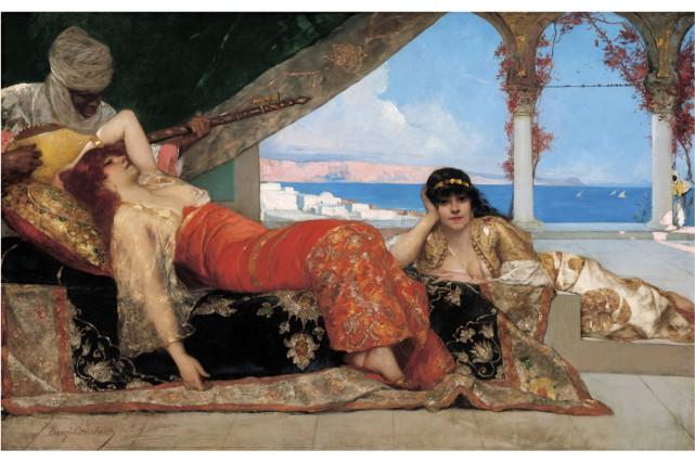 Benjamin-Constant, La Favorite de l'émir, 1879, Washington, U.S.... (Photo: fournie par le Musée des beaux-arts de Montréal)