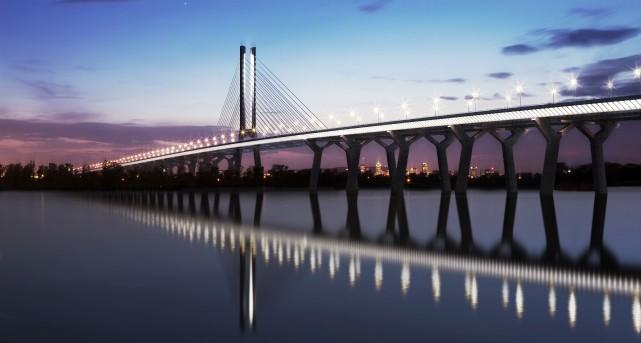Le nouveau pont Champlain.... (Photo fournie par Infrastructure Canada)