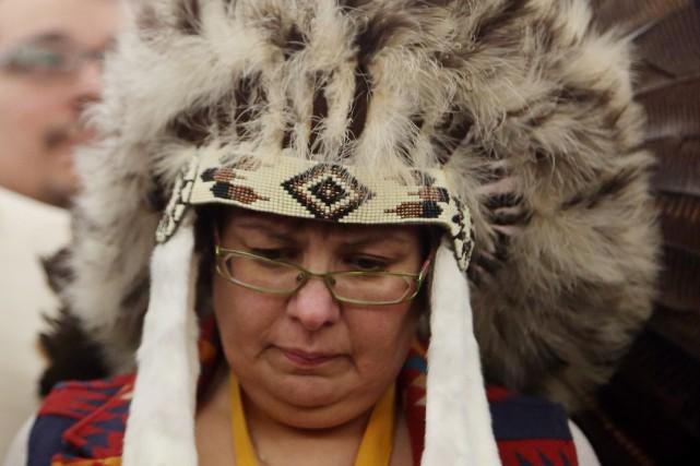 La chef de la Première NationAttawapiskat, Theresa Spence.... (Photo archives La Presse Canadienne)
