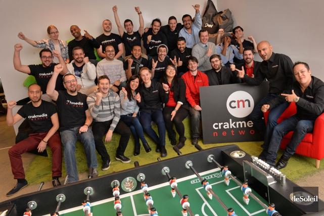 Près du tiers des employés de Crakmedia viennent... (Le Soleil, Patrice Laroche)