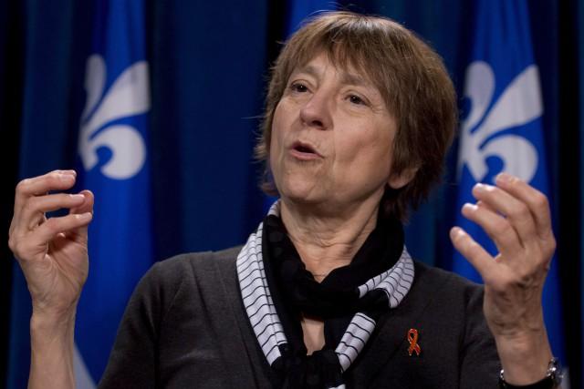 La coporte-parolede Québec Solidaire, Françoise David... (Archives La Presse Canadienne)