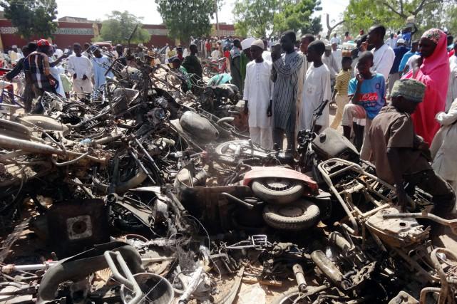 Le Nigeria est sous le choc du massacre... (PHOTO AMINU ABUBAKAR, AFP)
