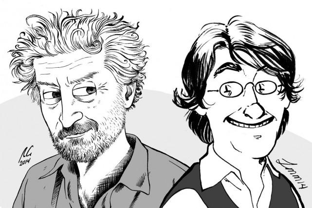 Les bédéistes Régis Loisel (dessiné par Raphaël Guilbault)... (Courtoisie)