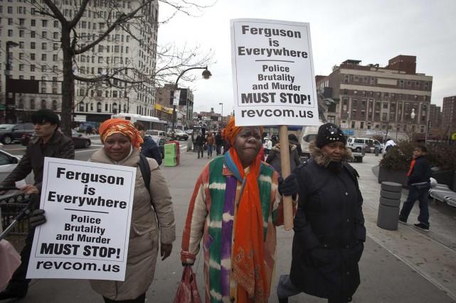 Harlem a été le théâtre d'une manifestation de... (PHOTO CARLO ALLEGRI, REUTERS)