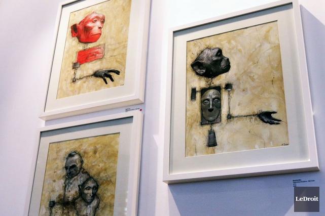 L'exposition de l'Ottavien Mathieu Dubé, alias Mat Dubé,... (Etienne Ranger, LeDroit)