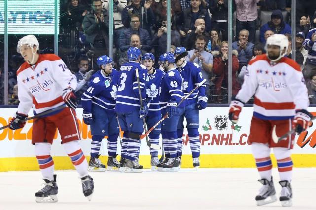 Émotive, cette victoire est survenueaprès que les Leafs... (Photo Tom Szczerbowski, USA TODAY)
