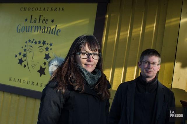 Élise Boutin-Michaud et Jean-Philippe Champagnesont les propriétaires de... (PHOTO EDOUARD PLANTE-FRÉCHETTE, LA PRESSE)