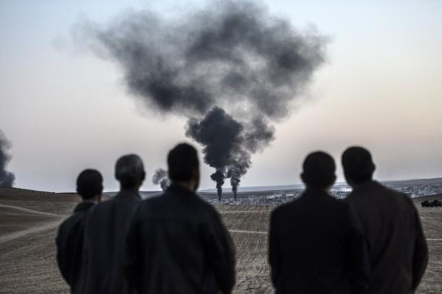 Le conflit en Syrie a commencé en mars... (Photo BULENT KILIC, AFP)