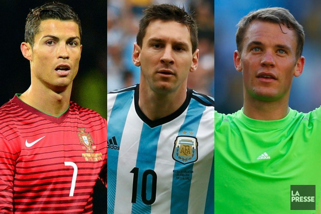 Cristiano Ronaldo, Lionel Messi et Manuel Neuer... (PHOTOMONTAGE LA PRESSE)