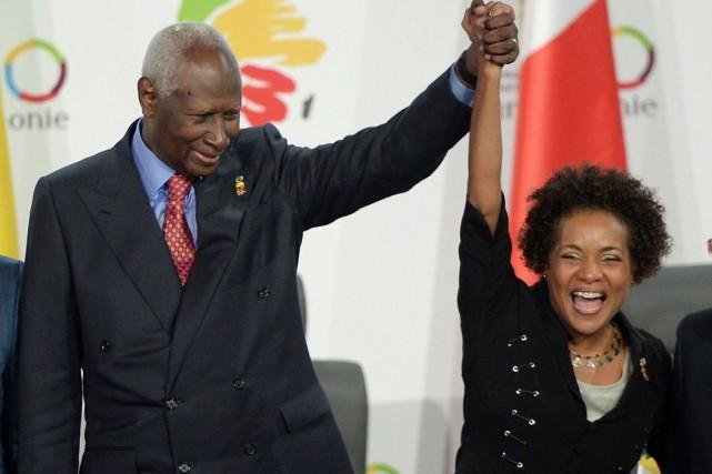 Le secrétaire-général sortant de la Francophonie, Abdou Diouf,... (La Presse Canadienne, Sean Kilpatrick)