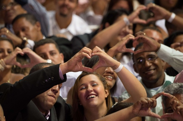 La «Journée du Oui» est organisée à l'initiative... (Photo CHRISTOPHE SIMON, AFP)