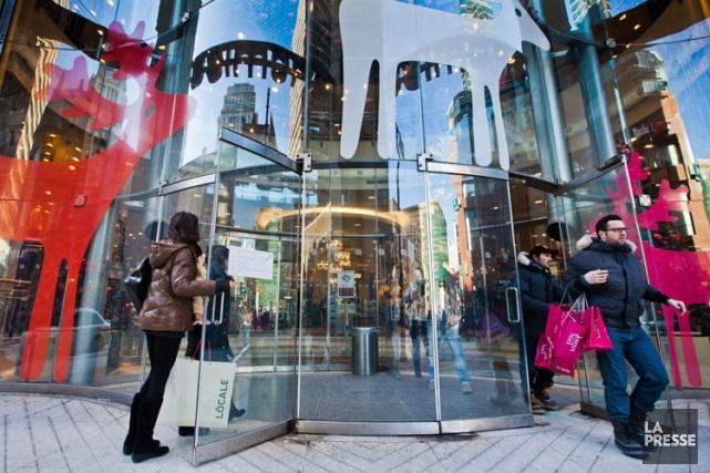 Les magasins de détail dépensent des millions de dollars dans le temps des... (Photo: Édouard Plante-Fréchette, La Presse)