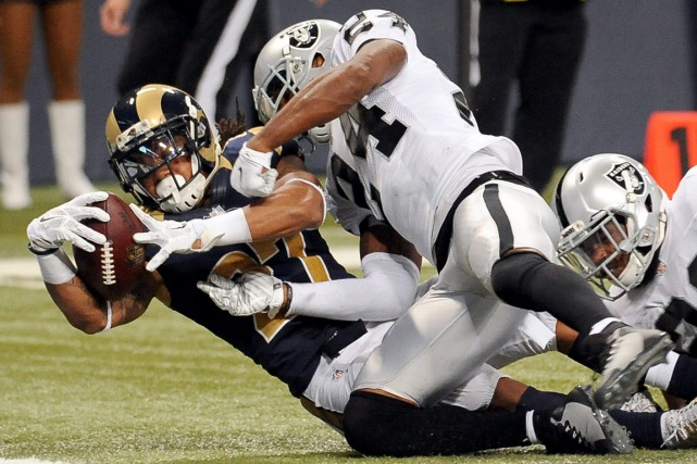 Tre Mason a réussi deux longs touchés.... (Photo L.G. Patterson, AP)