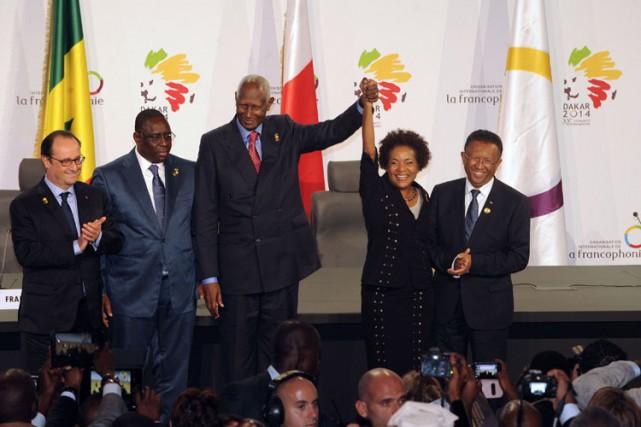 Michaëlle Jean succède àl'ex-président sénégalais Abdou Diouf à... (Photo: AFP)
