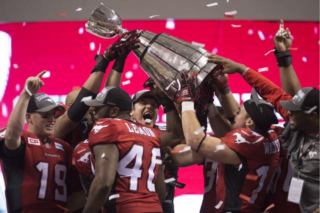 Les Stampeders de Calgary ont confirmé leur hégémonie sur la Ligue canadienne... (Photo: PC)