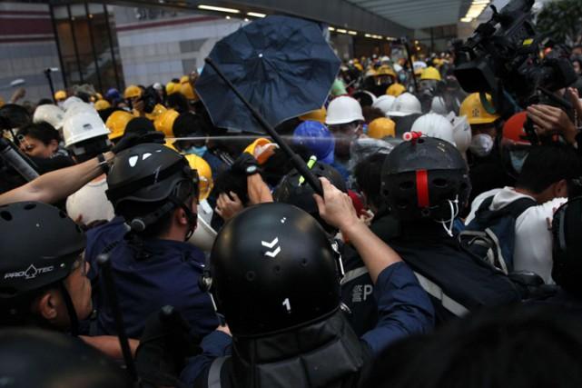 Le 28 septembre, le mouvement prodémocratie s'était brutalement... (Photo: AFP)