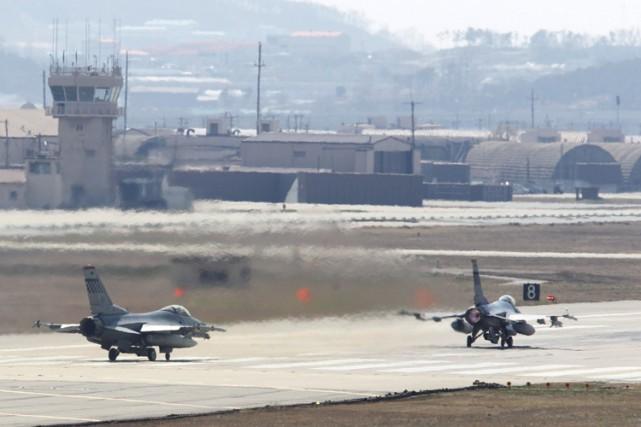 La base aérienne d'Osan, située à une centaine... (Photo: AP)