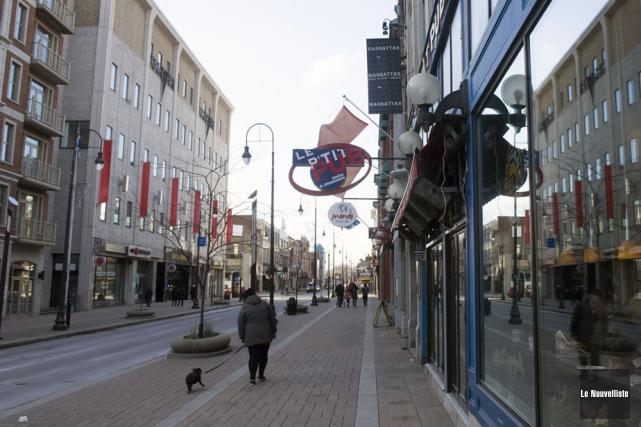 Le centre-ville de Trois-Rivières est en train de... (Photo: Stéphane Lessard, Le Nouvelliste)