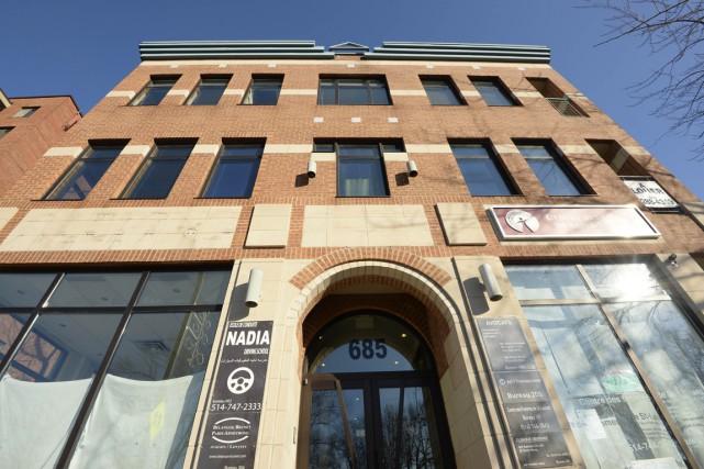 L'immeuble qui abritait l'ancien siège québécois de l'IRFAN,... (PHOTO CHARLES LABERGE, COLLABORATION SPÉCIALE)
