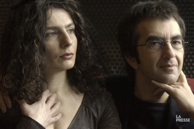 Arsinée Khanjian (ici avec son conjoint Atom Egoyan)... (Photo: Bernard Brault, archives La Presse)