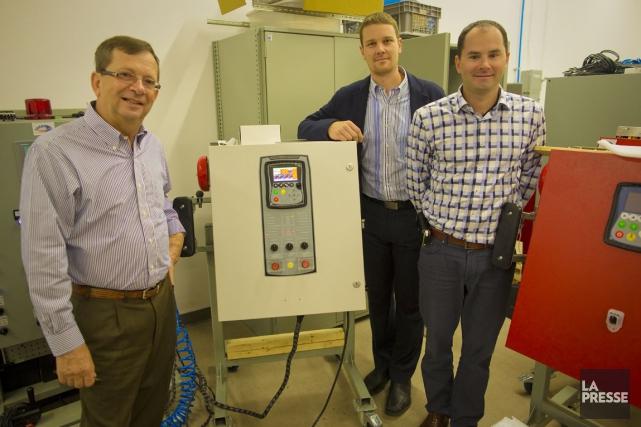 Leprésident fondateur de Tornatech, Bruno Goupil (à gauche)... (PHOTO ANDRÉ PICHETTE, LA PRESSE)