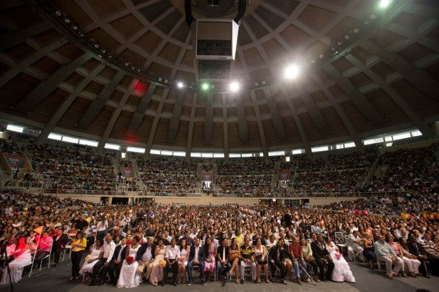 Avec tous les proches qui étaient présents, quelque... (Photo Silvia Izquierdo, AP)