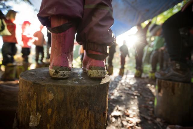 Pourquoi envoyer les tout-petits grandir dans la forêt? «Des parents, qui ont... (Photo Thomas Niedermüller, collaboration spéciale)