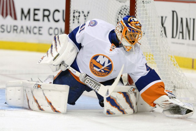 Jaroslav Halak présente un palmarès de 12-4-0 en... (Photo Kelvin Kuo, USA TODAY Sports)
