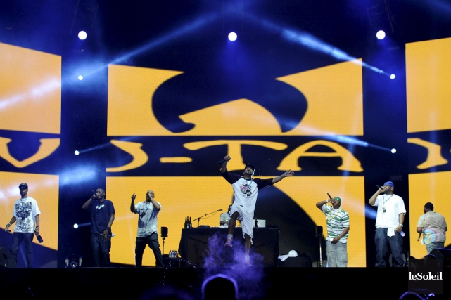 Le Wu-Tang Clan en spectacle sur les plaines... (Photo: Patrice Laroche, archives Le Soleil)