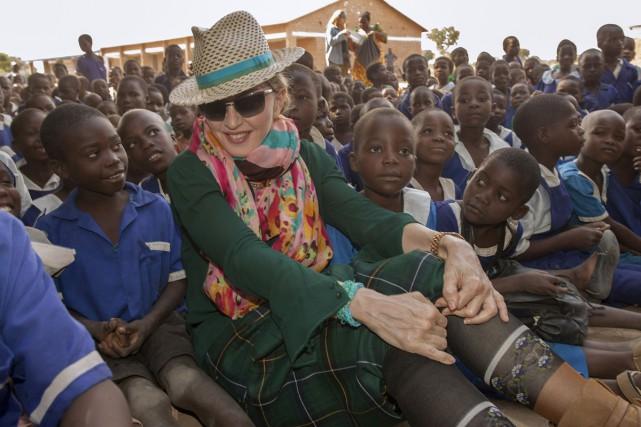 Madonna a quitté le Malawi lundi après une visite qui a inclus des rencontres... (Photo: AFP)