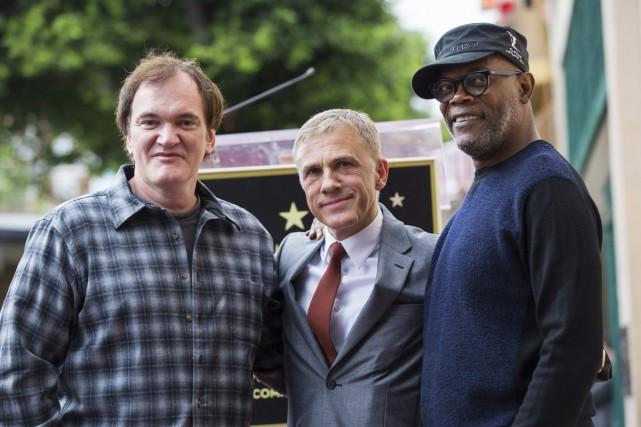 Quentin Tarantino, Christoph Waltz et Samuel L. Jackson.... (Photo: Reuters)