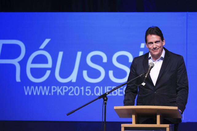 Pierre Karl Péladeau, lors du lancement officiel de... (Photo Christinne Muschi, Reuters)