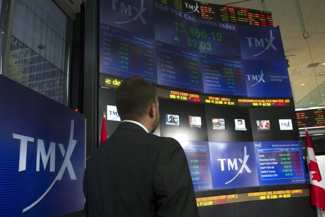 Les marchés boursiers ont été ralentis par un... (Photo Frank Gunn, archives La Presse Canadienne)