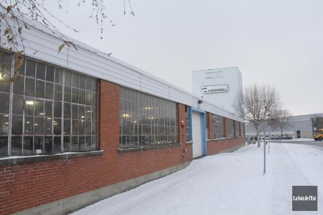 La vente du site des Industries Cresswell, rue... (photo Alain Dion, archives La Voix de l'Est)