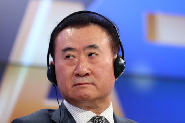 Le magnat de l'immobilier et du divertissement, Wang... (Photo Chris Ratcliffe, Bloomberg)