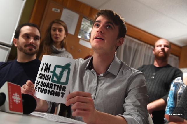 Porte-parole de laFédération étudiantede l'Université de Sherbrooke,Joël Vaudevillea... (Imacom, René Marquis)