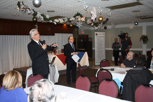 Les avocats Jean Girard et Bruno Lévesque, du... (Photo: Gabriel Delisle)