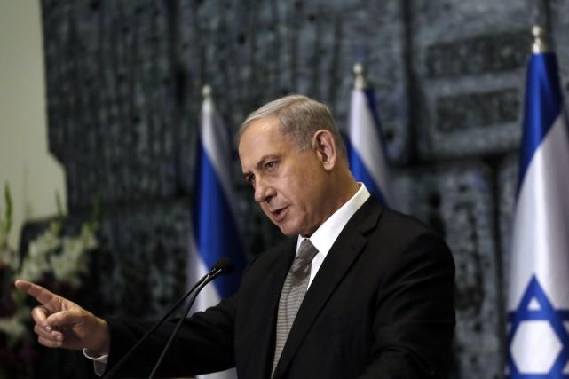 Le premier ministre israélien Benyamin Nétanyahou a limogé... (PHOTO GALI TIBBON, AFP)