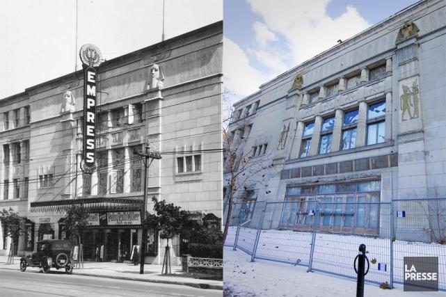 Le vieux théâtre Empress, ce bâtiment de style néo-égyptien qui règne tel un... (Photo: André Pichette, La Presse et Organisation du cinéma NDG)
