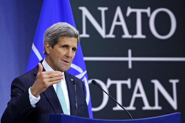 Le secrétaire d'État américain, John Kerry, a accusé... (Photo Yves Herman, Reuters)