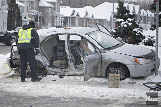 L'enfant est mort lorsque la voiture à bord... (Photo Patrick Sanfaçon, archives La Presse)