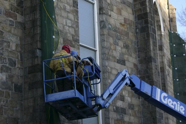 La cathédrale de Rimouski est fermée pour des... (Collaboration spéciale Carl Thériault)