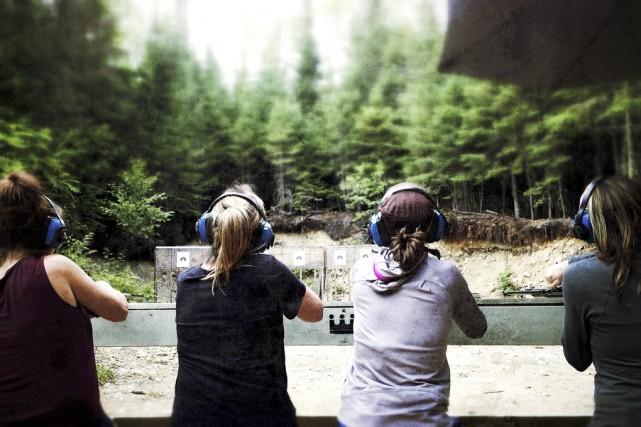 Un film de chasse de filles nous amène... (photo Parallaxes)