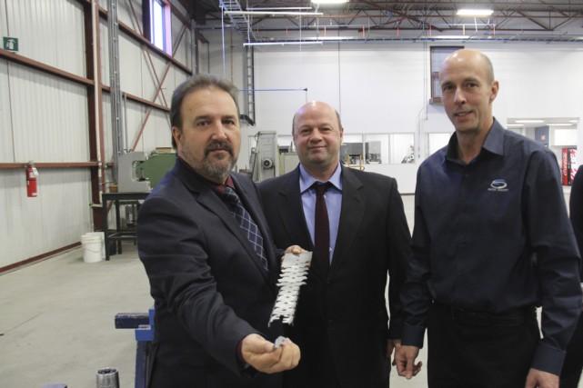 Les actionnaires d'Outils Concept, Daniel Nadeau, Robert Stratford... (photo Janick Marois)