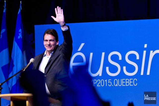 Pierre Karl Péladeau, lors du lancement officiel de... (La Presse, Olivier Jean)