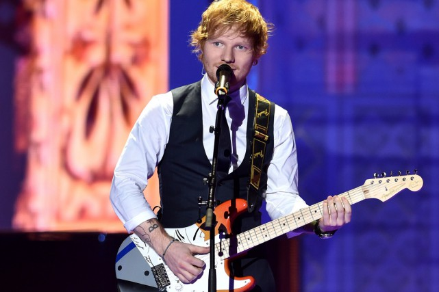 Ed Sheeran... (Archives Agence France-Presse)