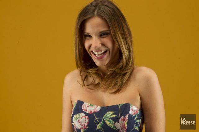 Elle est pétillante et toujours de bonne humeur. Annie-Soleil Proteau aime... (Photo Olivier Jean, La Presse)