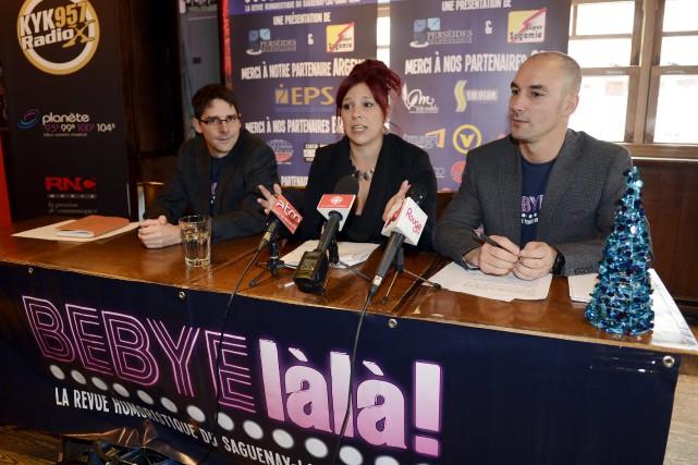 Le réalisateur Yoan Gasse, en compagnie de Stéphanie... ((Photo Jeannot Lévesque))