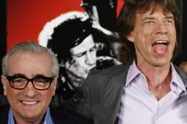 Martin Scorsese et Mick Jagger... (Photo: archives Reuters)