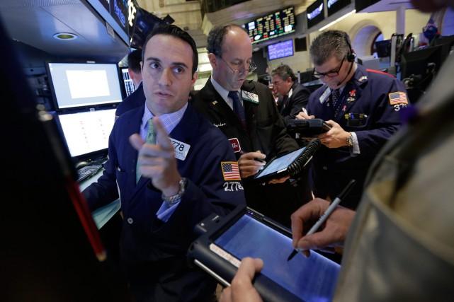 Le pétrole coté à New York a terminé en hausse mercredi après l'annonce d'une... (Photo Richard Drew, AP)